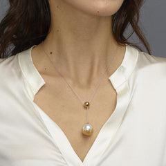 Teeth White Pearl Drop Necklace - Carrie K.