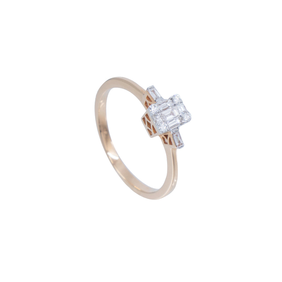 Cushion and Baguette Diamond Ring - Carrie K.