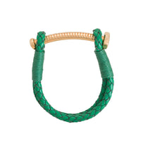 Nut & Bolt Green Leather Bolo Bracelet - Carrie K.