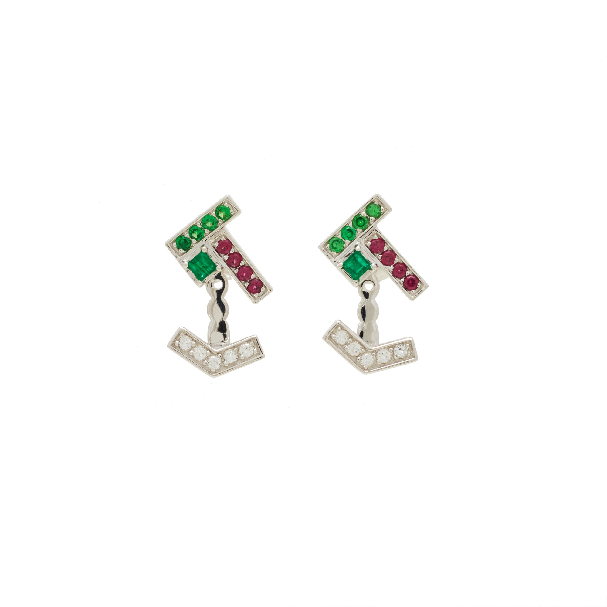 earrings mcteigue stud item bezel rhodolite mcclelland garnet