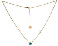 Trilliant Solitaire Necklace (9K Gold) - Carrie K.