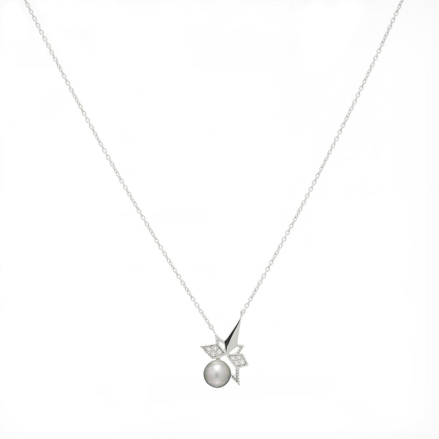 Pearl Star Necklace (18K Gold) - Carrie K.