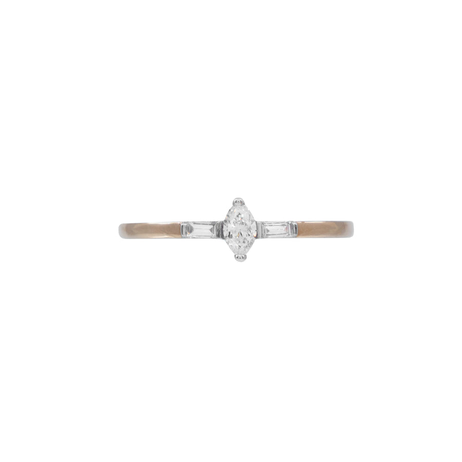 Marquise and Baguette Diamond Ring - Carrie K.