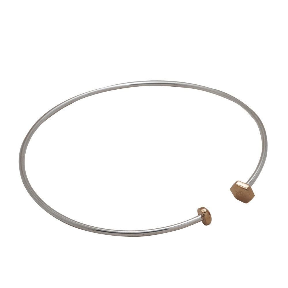 Nut and Bolt Twisty Choker - Carrie K.