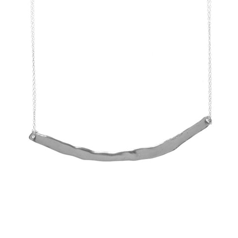 Long Silver Word Necklace