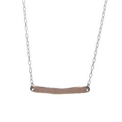 Rose Gold Word Necklace - Carrie K.