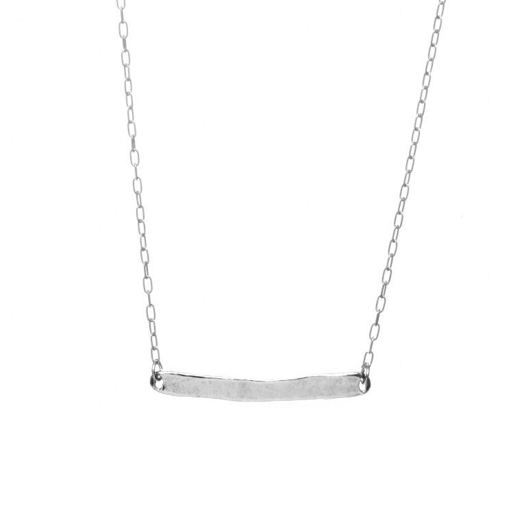 Silver Word Necklace - Carrie K.