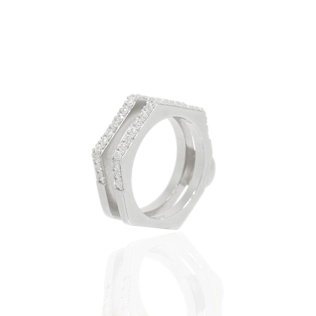geometric band double rose products russell rings alexis natural diamond ring
