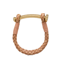 Nut & Bolt Natural Leather Bolo Bracelet - Carrie K.