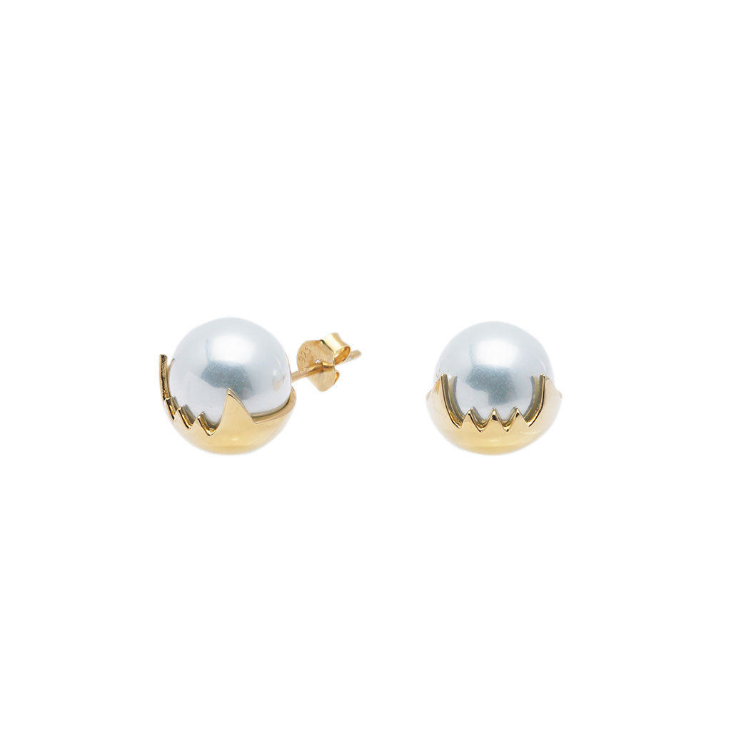 Teeth White Pearl Studs - Carrie K.
