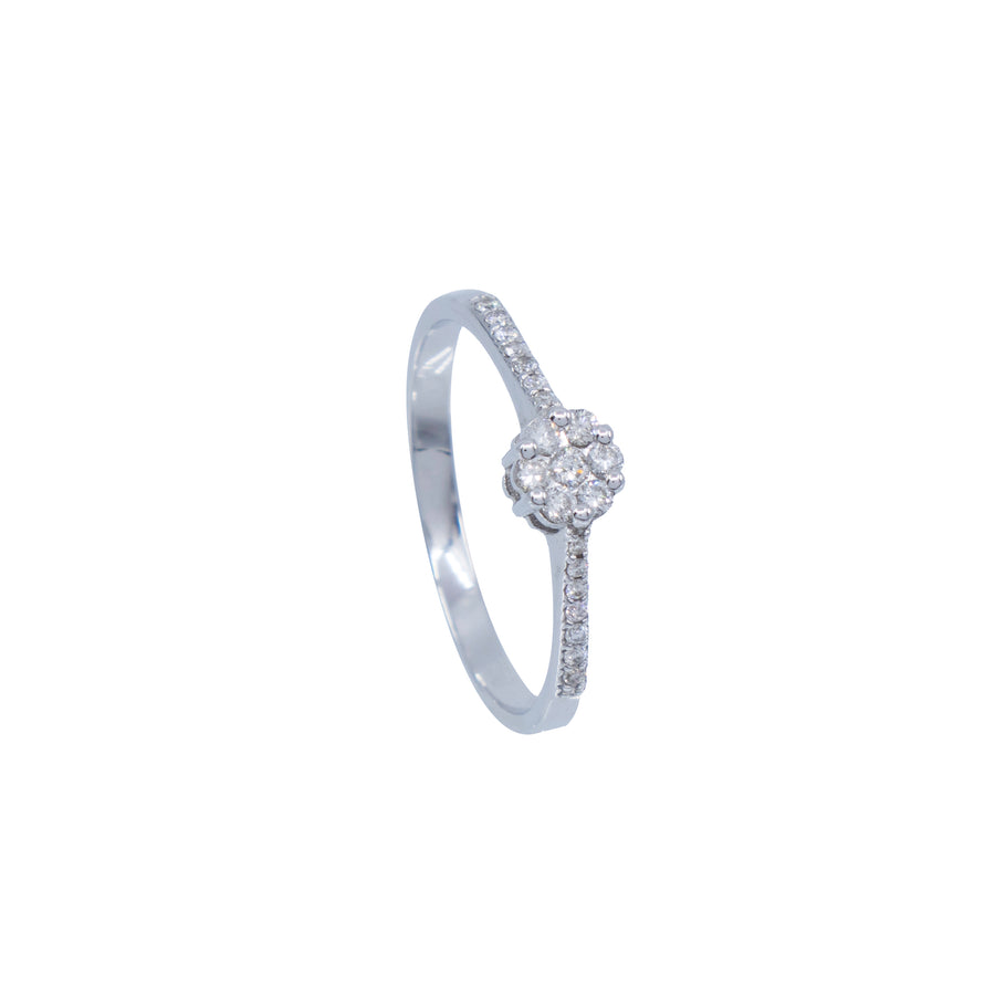 Round Puzzle Half-Eternity Ring - Carrie K.