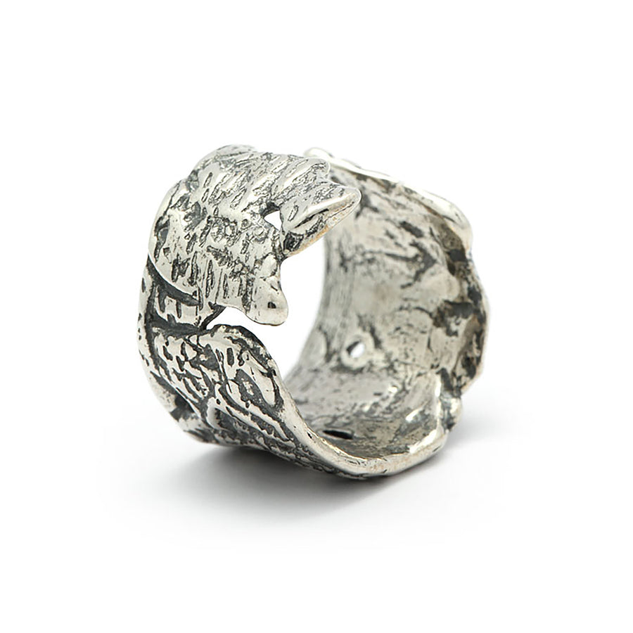Silver Molten Wrap Ring - Carrie K.