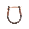 Nut & Bolt Antique Brown Leather Bracelet - Carrie K.