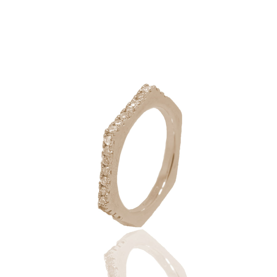 Nut & Bolt Rose Gold Single Ring - Carrie K.