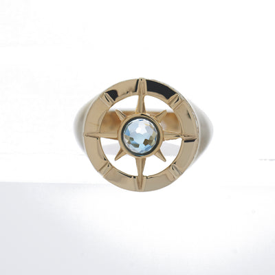 Compass Signet Ring (9K Gold) - Carrie K.