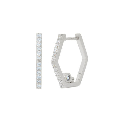 Nut & Bolt Hoop Earrings - Carrie K.