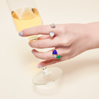 Baby Trilliant Pave Ring (9K Gold) - Carrie K.