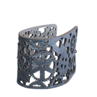 Heavy Mettle Silver Short Cuff - Carrie K.