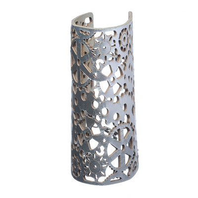 Heavy Mettle Silver Long Cuff - Carrie K.