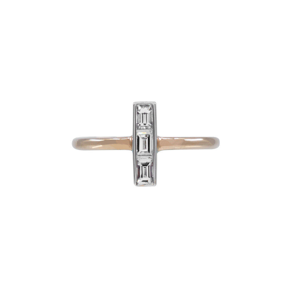 Vertical Baguette Diamond Ring - Carrie K.