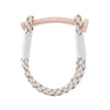 Nut & Bolt White Leather Bracelet - Carrie K.