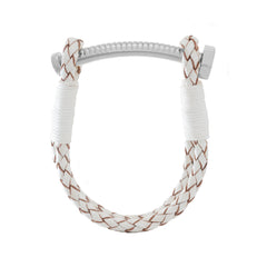 Nut and Bolt White Leather Bracelet - Carrie K.