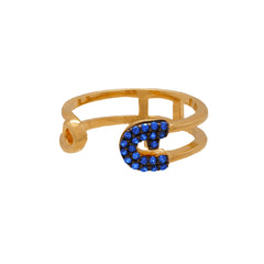 Reborn Safety Pin Yellow Gold Ring - Carrie K.