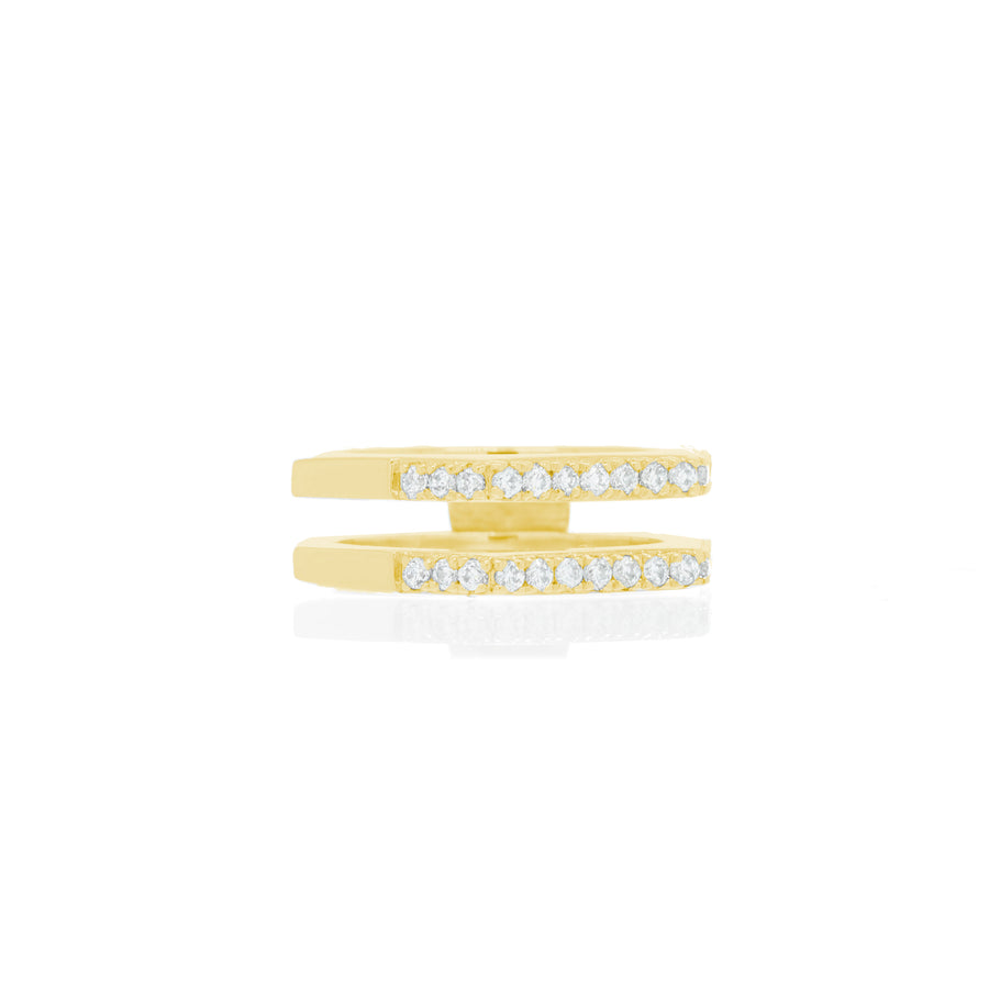 Nut & Bolt Yellow Gold Double-Band Rings