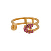 Reborn Safety Pin Bling Yellow Gold Ring - Carrie K.