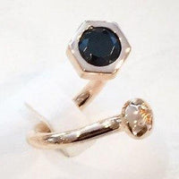 Nut and Bolt Black Bling Oblique Ring - Carrie K.