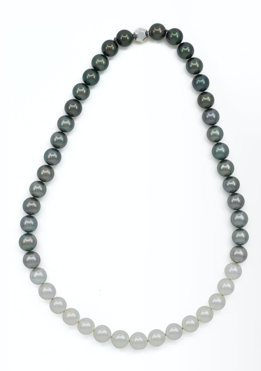 Tahitian & South Sea Gradated Pearl Necklace 10mm