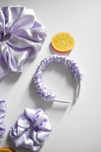 Load image into Gallery viewer, Satin Scrunchie Headband in Lilac