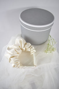 Luxury Large Silk Headband in Ivory - Jeneral Store Bridal
