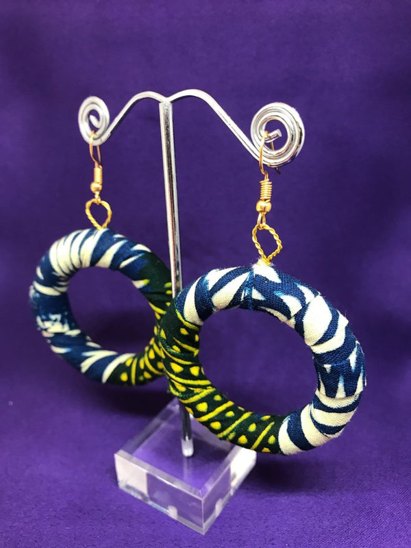 African Print Hoops Earrings | The Continent Clothing