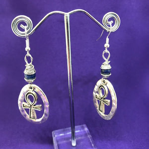 Handmade Crystal and Silver Earrings | The Continent Clothing
