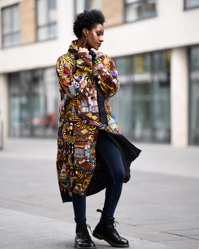 African Winter Coat, Patchwork Parka