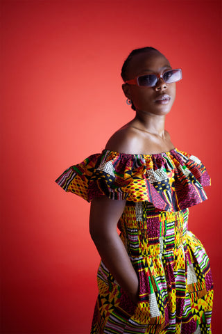 African Clothing / African Dress in Amazing Kente