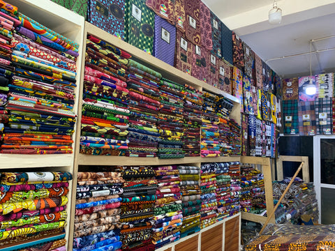 The biggest fabric shop in The Ganbia