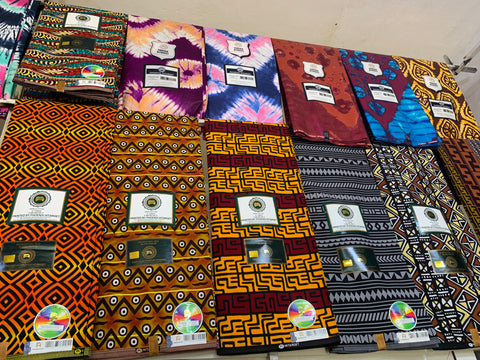 Some of the beautiful African fabrics of our new