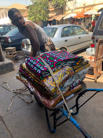 Thats one way to carry African Fabric