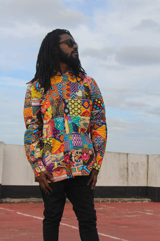 African Shirt In Patchwork