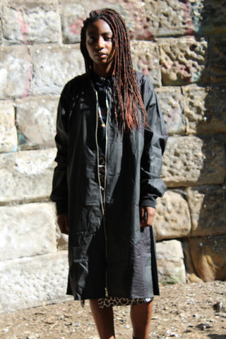 African Coat In Black / Trench Coat