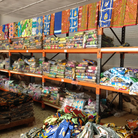 The largest fabric shop in The Gambia
