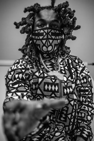 African Clothing: Samakaka Jacket and Facemask