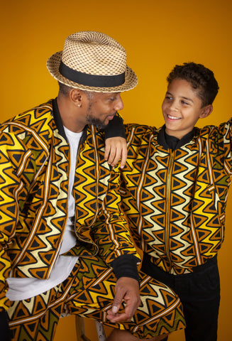 African Clothing: Matching African Bomber jackets