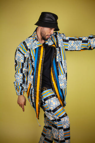 African Summer Puffer Jacket Handmade In The Gambia