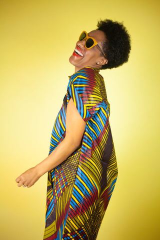 African Dress In Wow Print