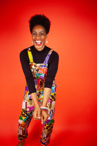 African Clothing: Patchwork Dungarees