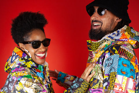 African Patchwork Parka's Handmade in West Africa