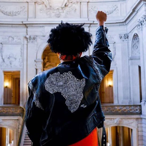 Welcome To The Tribe African Denim Jacket